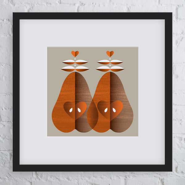 Pear Pair Art Print