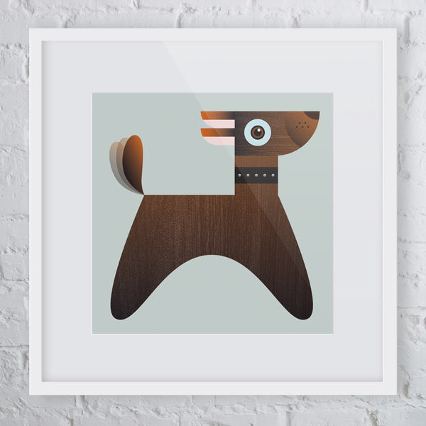 Ruff Ruff Dog Art Print