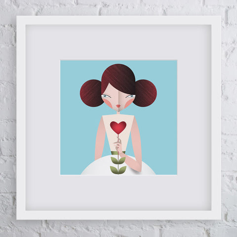 Share the Love Girl Art Print
