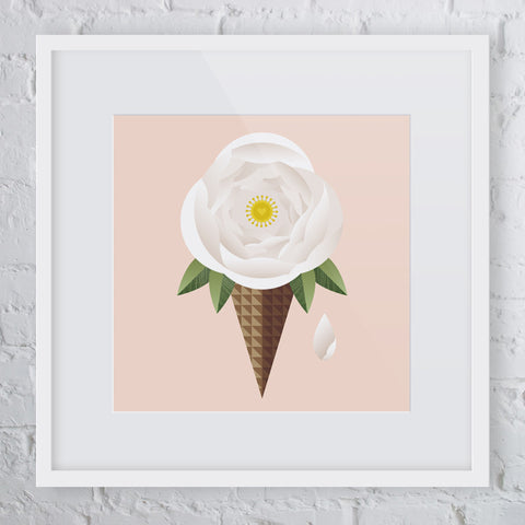 Single Scoop Flower Art Print