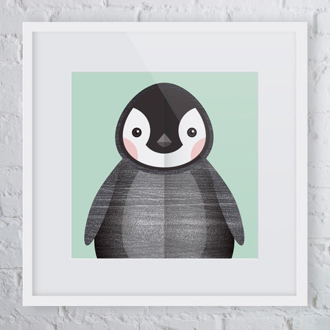 Snug Penguin Art Print
