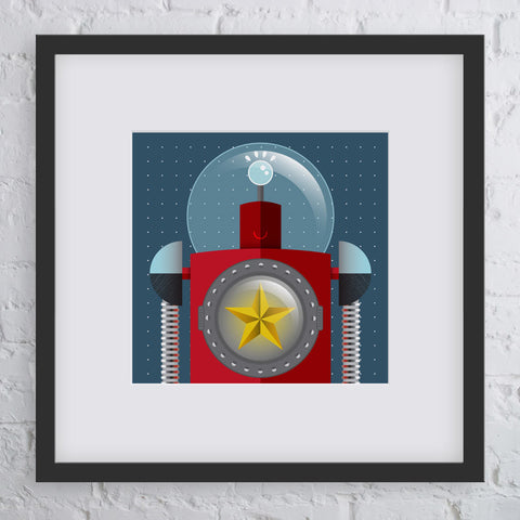 Super Star Robot Art Print