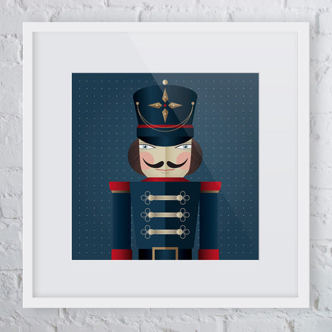 Attention! Navy Soldier Man Art Print