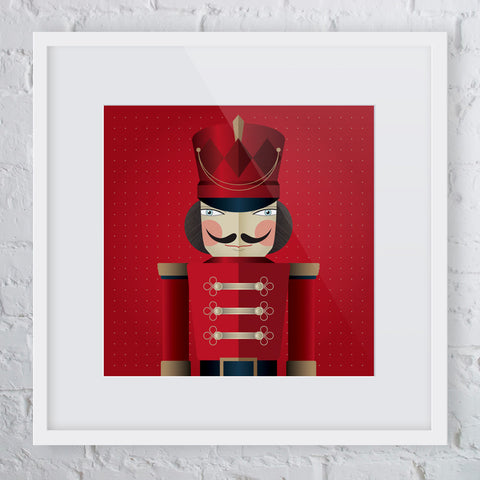 Attention! Red Soldier Man Art Print