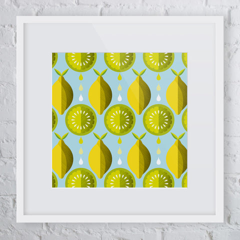 Lemon n Lime Art Print