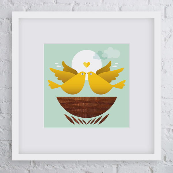Nest Bird Art Print