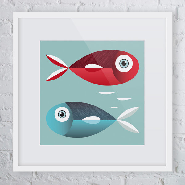 One Fish Two Fish Art Print