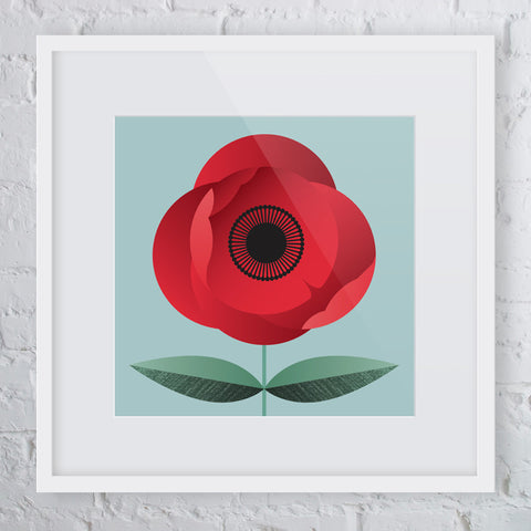 Poppy Flower Art Print