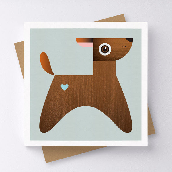 Ruff Dog Mini Greeting Card