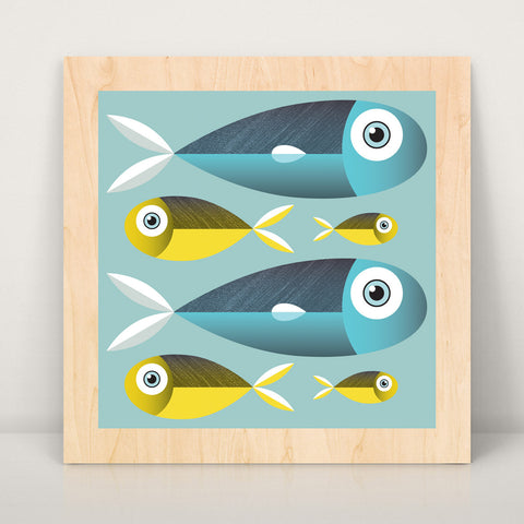 Better Together Fish Large Wood Art Print