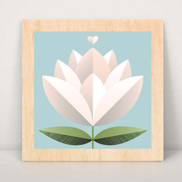 Blossom Flower Large Wood Art Print
