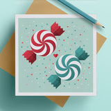 Christmas Candy Christmas Greeting Card