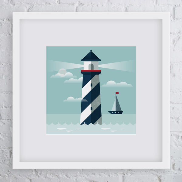Shining Light Lighthouse Art Print