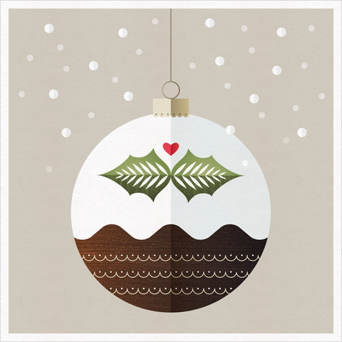 Christmas Pud Christmas Greeting Card