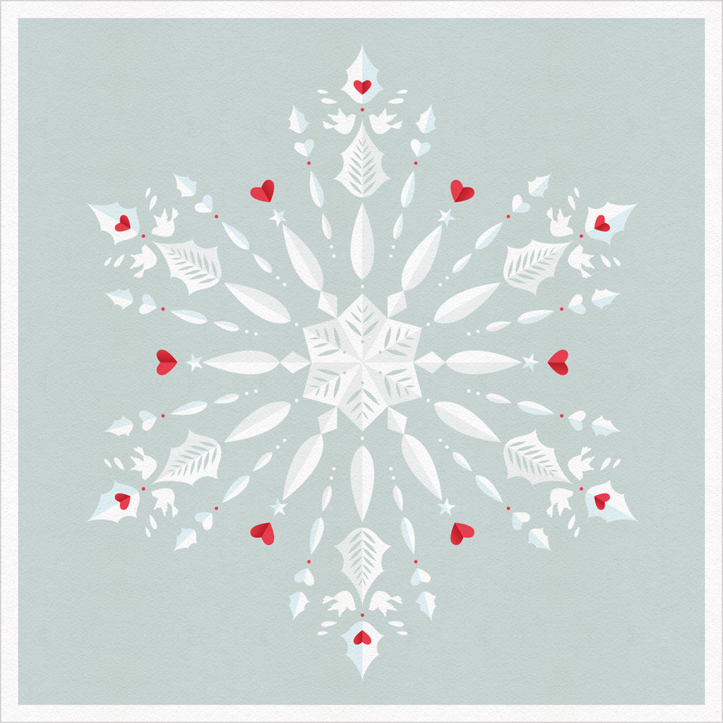 Snowflake christmas greeting card one hectare snowflake christmas greeting card m4hsunfo