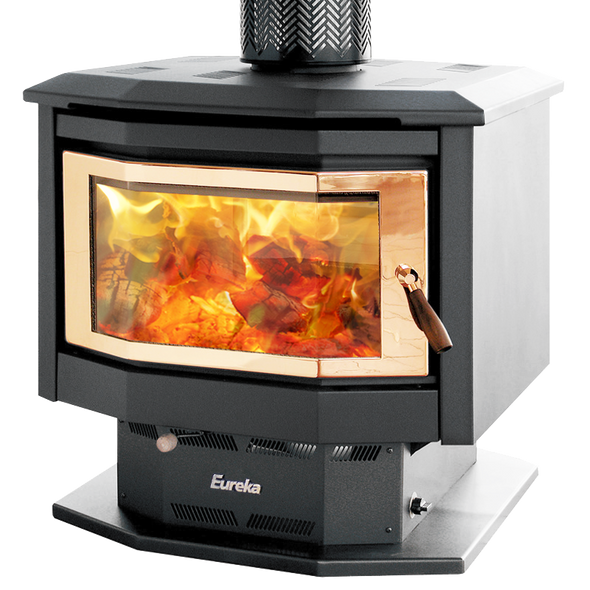Eureka Discovery Duet double sided wood heater