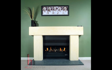 Open Gas Fireplace