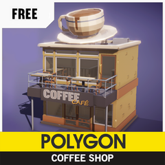 Free Low-Poly 3D Asset from Synty Studios, Coffee Shop