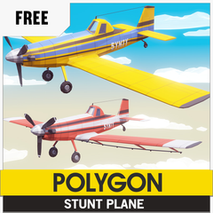 Free Low-Poly 3D Asset from Synty Studios, Airplane