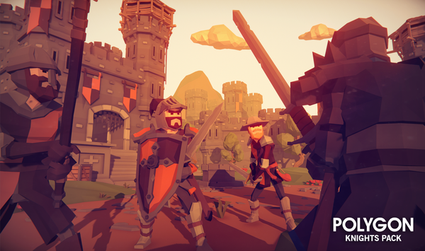 POLYGON - Knights Pack - Synty Studios - Unity and Unreal 3D low poly assets for game development