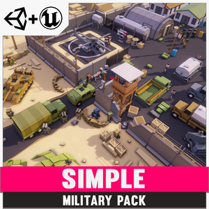Simple Military - Cartoon Assets - synty-store