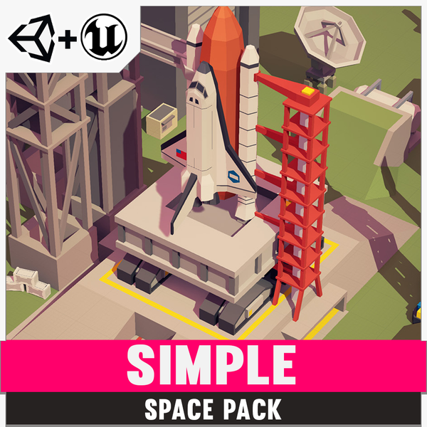 Simple Space - Cartoon Assets - Synty Studios - Unity and Unreal 3D low poly assets for game development