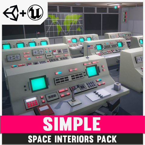 Simple Space Interiors - Cartoon Assets - synty-store