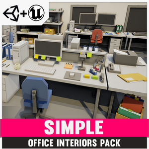 Simple Office - Cartoon Assets - synty-store