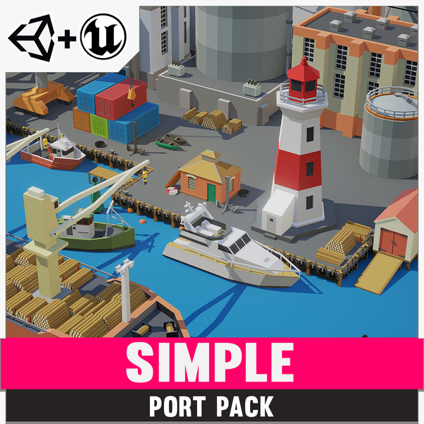 Simple Port - Cartoon Assets - synty-store