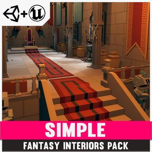 Simple Fantasy Interiors - Cartoon Assets - synty-store