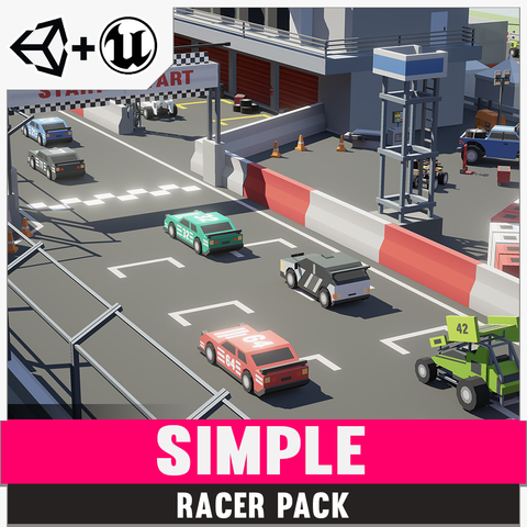 Simple Racer - Cartoon Assets - Synty Studios - Unity and Unreal 3D low poly assets for game development