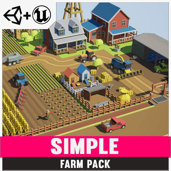 Simple Farm - Cartoon Assets - Synty Studios - Unity and Unreal 3D low poly assets for game development