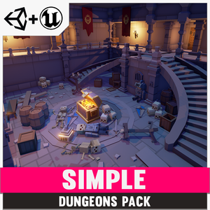 Simple Dungeons - Cartoon Assets - synty-store