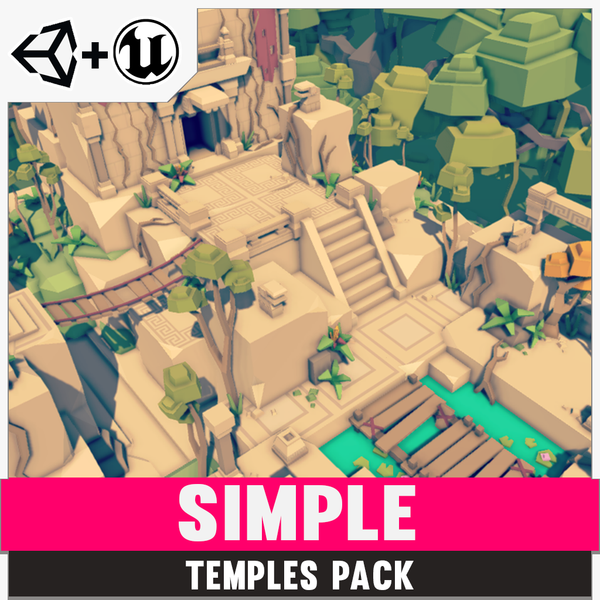 Simple Temples - Cartoon Assets - Synty Studios - Unity and Unreal 3D low poly assets for game development