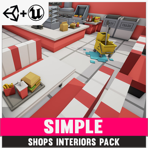 Simple Shop Interiors - Cartoon assets - synty-store