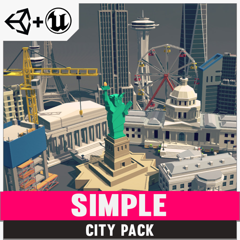 Simple City - Cartoon Assets - Synty Studios - Unity and Unreal 3D low poly assets for game development