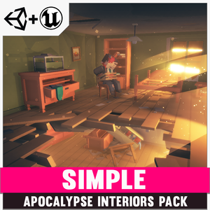 Simple Apocalypse Interiors - Cartoon Assets - synty-store