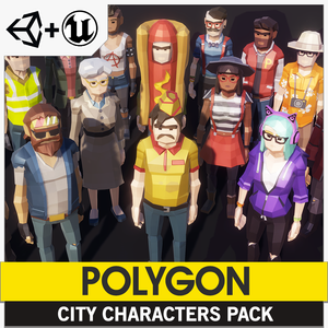 POLYGON - City Characters Pack - Synty Studios - Unity and Unreal 3D low poly assets for game development