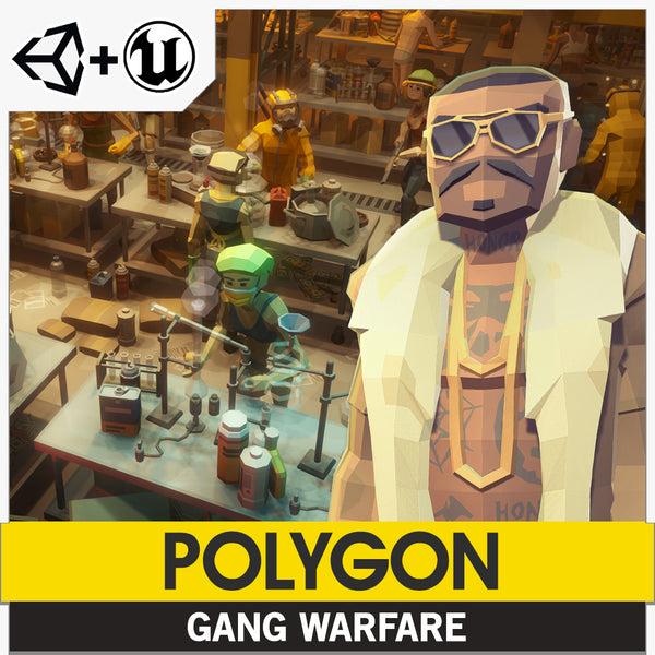 POLYGON - Gang Warfare Pack - Synty Studios - Unity and Unreal 3D low poly assets for game development