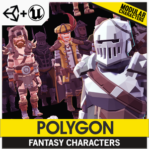 POLYGON - Modular Fantasy Hero Characters