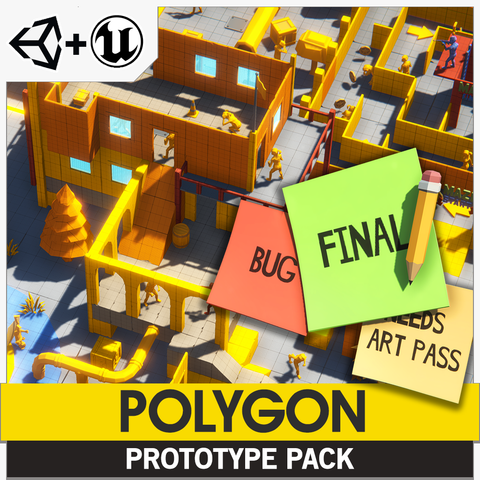 POLYGON - Prototype Pack - Synty Studios - Unity and Unreal 3D low poly assets for game development
