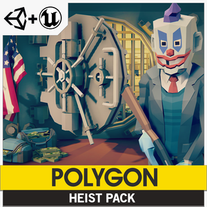 POLYGON - Heist Pack - Synty Studios - Unity and Unreal 3D low poly assets for game development