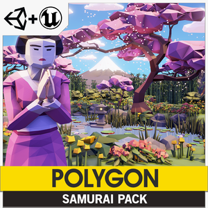 POLYGON - Samurai Pack - Synty Studios - Unity and Unreal 3D low poly assets for game development