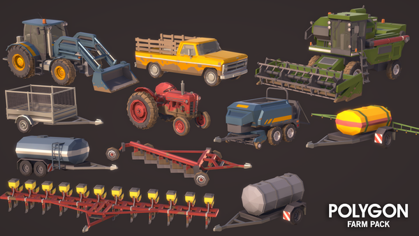 POLYGON - Farm Pack - Synty Studios - Unity and Unreal 3D low poly assets for game development
