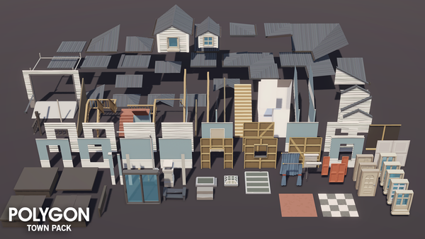 POLYGON - Town Pack - Synty Studios - Unity and Unreal 3D low poly assets for game development