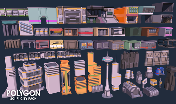 POLYGON - Sci-Fi City Pack - synty-store