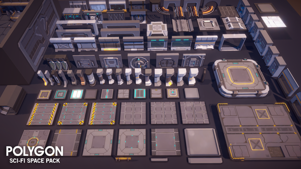 POLYGON - Sci-Fi Space Pack - Synty Studios - Unity and Unreal 3D low poly assets for game development