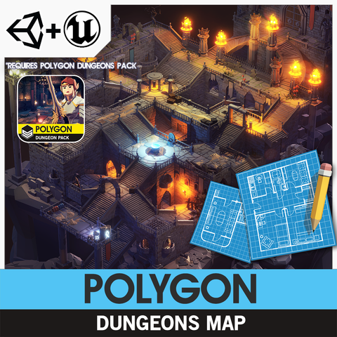 POLYGON - Dungeons Map - synty-store