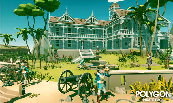 POLYGON - Pirate Pack - Synty Studios - Unity and Unreal 3D low poly assets for game development