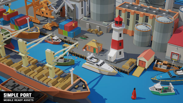 Simple Port - Cartoon Assets - Synty Studios - Unity and Unreal 3D low poly assets for game development